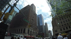 Traffic at Midtown Manhattan in NYC Stock Footage