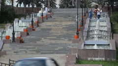 Lipetsk, RUSSIA - 05.08.2015. View on one of  central streets at the city Stock Footage