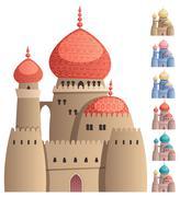Arabian Castle on White Stock Illustration