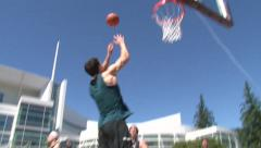 Alley Oop Slam Dunk Stock Footage