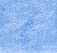 Old scratched blue wall texture, background surface Stock Photos