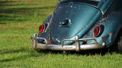 Back of an old beetle. Stock Footage