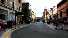 Pedestrians in  center of Glasgow at the area Buchanan and Sauchiehall Street Stock Footage