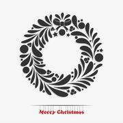 Stock Illustration of Christmas garland