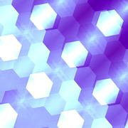 Abstract hexagon shape concept. Shiny fantasy wall paper. Ice crystal style. - stock illustration