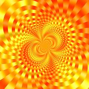 Gold orange background image. New ideas. Digital art. Nice decor. Round ring. - stock illustration