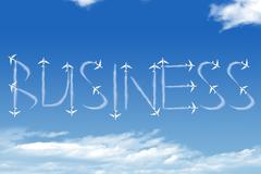 Business shape clouds - stock photo