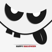 Halloween face - stock illustration