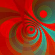 Stock Illustration of Modern art circles. Hot energy burst. Fun looking. Ornate crazy decor. Ray.