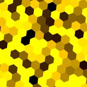 Yellow hexagon background idea. Full frame image. Tile decor. Yellow honey cell. Stock Illustration