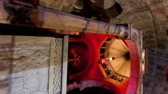 Vertical shot of Low-angle tracking footage of Armenian Chapel, Division of Holy Stock Footage