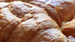 Famous French  croissant tasty dough rolls 4K 2160p 30fps UltraHD footage - V Stock Footage