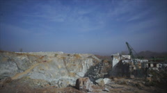 Marble quarry Aerial Video Stock Footage