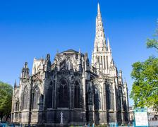 St. Andrew Cathedral in Bordeaux - stock photo