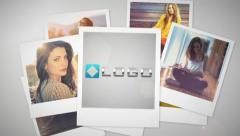 Stylish Photo Throw Intro - Photos Gallery Slideshow Presentation Logo Reveal Stock After Effects