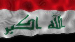 Waving Flag Irak Stock Footage