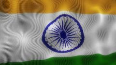 Waving Flag India Stock Footage