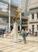 Golden statue of Diana at the Metropolitan Museum in New York Stock Photos