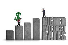 Higher Interest Rates - stock photo