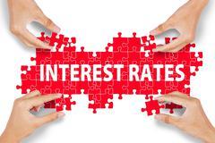 Interest Rates Puzzle - stock photo