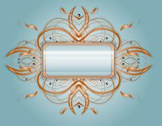 Abstract shape with rectangle. Stock Illustration