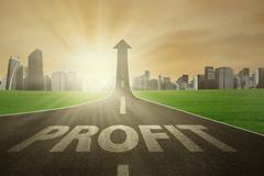 The road to raise profit Stock Photos