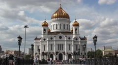 Cathedral of Christ the Savior. Moscow Russia Stock Footage