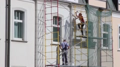Building Cladding. Moscow Reconstraction. Stock Footage