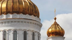 Cathedral of Christ the Savior. Elements Close Up. Moscow Russia - stock footage