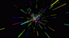 Sparse colorful Light Beam Loop Stock Footage