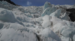 Franz Josef Glacier in New Zealand, South Island. Stock Footage