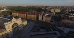 Budapest Keleti Train Station (Aerial) Stock Footage