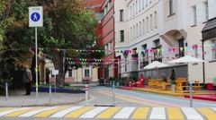 Pedestrian Zone In Moscow Stock Footage