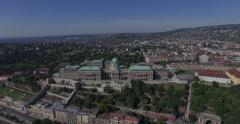 Aerial shots of Royal palace or Buda Castle in Budapest city Stock Footage