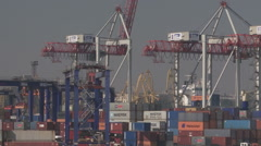 View at Black Sea port, Odessa - stock footage