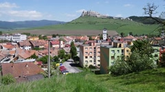 The ruins of Spis Castle (Slovak Spissky hrad Stock Footage