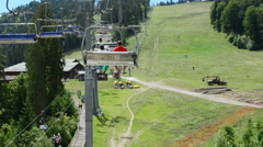 Surface lift. Carpathians in the summer. - stock footage