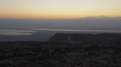 Sunrise time-lapse at Masada. Cropped. Stock Footage