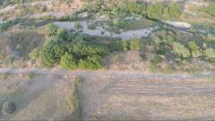 Aerial view Over the Fields  Stock Footage