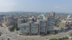 Aerial view of government buildings at Portage in Gatineau Quebec Stock Footage