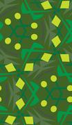 Stock Illustration of Green Circle and Lines Pattern