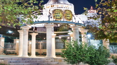 Time-lapse of the Basilica of Annunciation in Nazareth, Israel. Cropped. Stock Footage