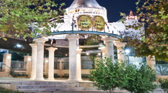Panning shot of Time-lapse of the Basilica of Annunciation in Nazareth, Israel Stock Footage
