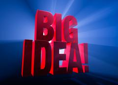 Big, Bold Idea! - stock illustration