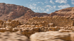Daytime time-lapse of the ruins at Qumran. Cropped. Stock Footage