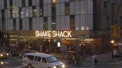 Shake Shack hamburger restaurant in New York City Stock Footage