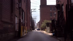 Empty Alley in Pittsburgh City Stock Footage