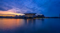 Epic Sunrise At Iron Mosque, Putrajaya. Zoom in. Stock Footage