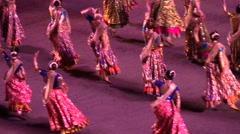 Indian bollywood dancers , military parade , Indian wedding Stock Footage