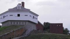 Fort McClary Approach Stock Footage